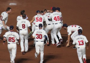 The Braves look to have more celebrations like this as the season comes to a close.