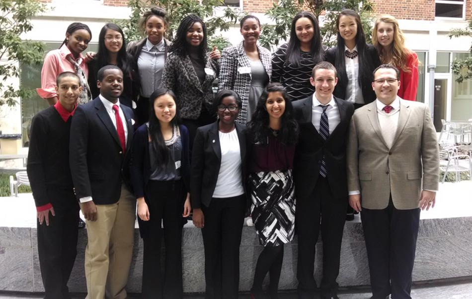 Parkview's Mock Trial team attends the region competition in Athens, GA.
