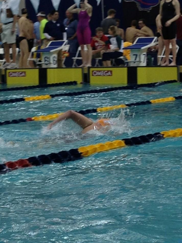Marianna+Markley+swims+the+500+freestyle+at+the+state+swim+meet