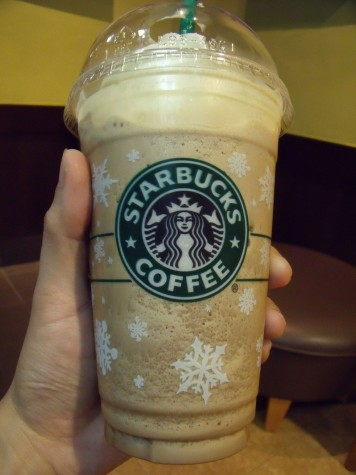 One of the wintery options available at Starbucks.