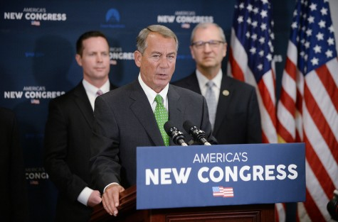 House Speaker John Boehner (R-OH) speaks to reporters at a press conference on January 7, 2015.