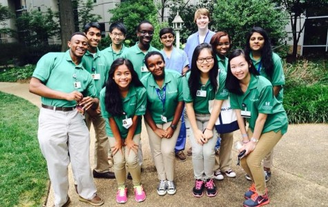 High school students helping out at Childrens Heathcare of Atlanta's Volunteen program.