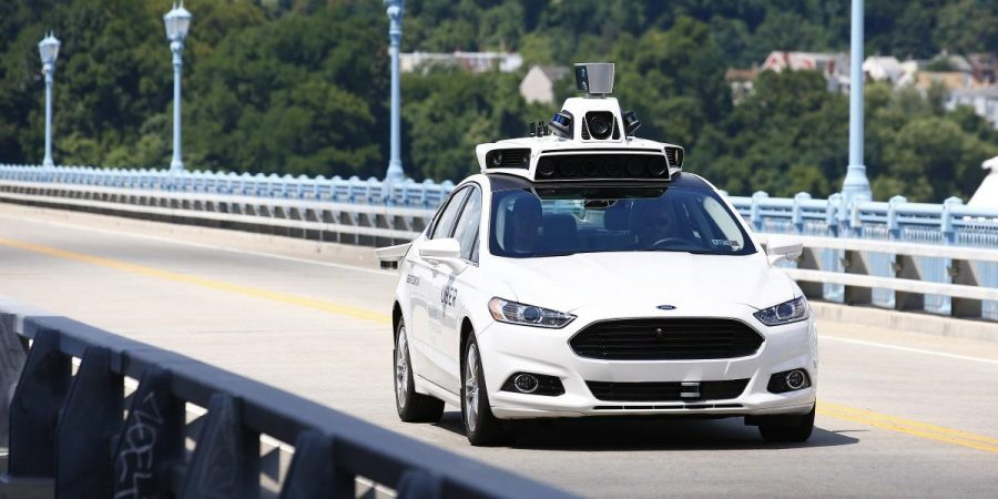 Uber+employees+test+the+self-driving+Ford+Fusion+hybrid+cars+in+Pittsburgh%2C+Pa+on+Thursday%2C+Aug.+18%2C+2016.+%28AP+Photo%2FJared+Wickerham%29