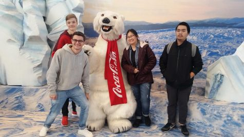 Antonio, Tobi , Tanadon, and Brooke enjoy the World of Coca-Cola.