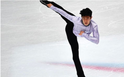 Nathan Chen skating at the Grand Prix Finals
