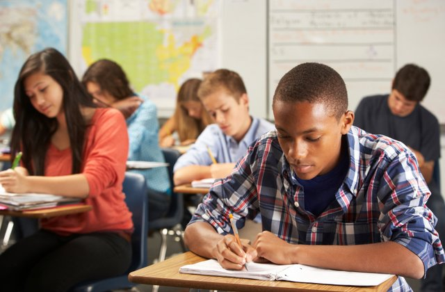 Students taking a test. Courtesy of US News.