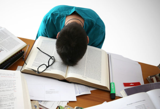 Students feel exhausted trying to keep up with their schoolwork. Photo courtesy of The General Consensus.