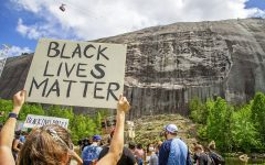 Citizens gather around Stone Mountain during the Black Lives Matter protests. (Photo by Dean Hesse)