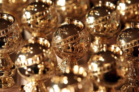 Picture of Golden Globes Award trophies (Photo courtesy of People.com).
