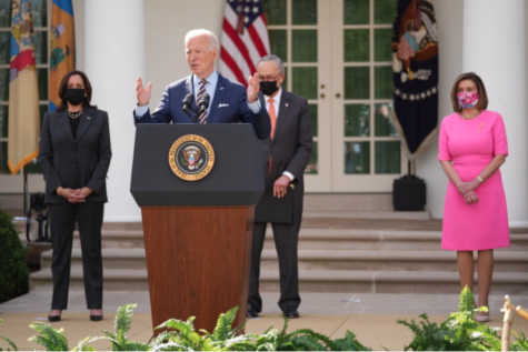 Photo of President Biden giving an address on the American Rescue Plan on March 12, 2021 Courtesy of Doug Mills from The New York Times
