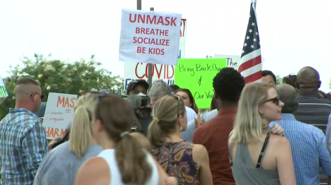 Parents protest the requirement of masks in Gwinnett County Public Schools