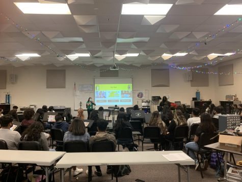 This photograph is of a real-time HOPE meeting at Parkview High School.